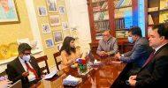 লন্ডনে বাংলাদেশ হাইকমিশন পরিদর্শনে পরিবেশ মন্ত্রী